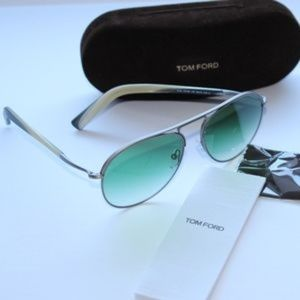 5cb4e820afd73 Tom Ford Accessories - Tom Ford TF 448 14P Cody Ruthenium Green Fade